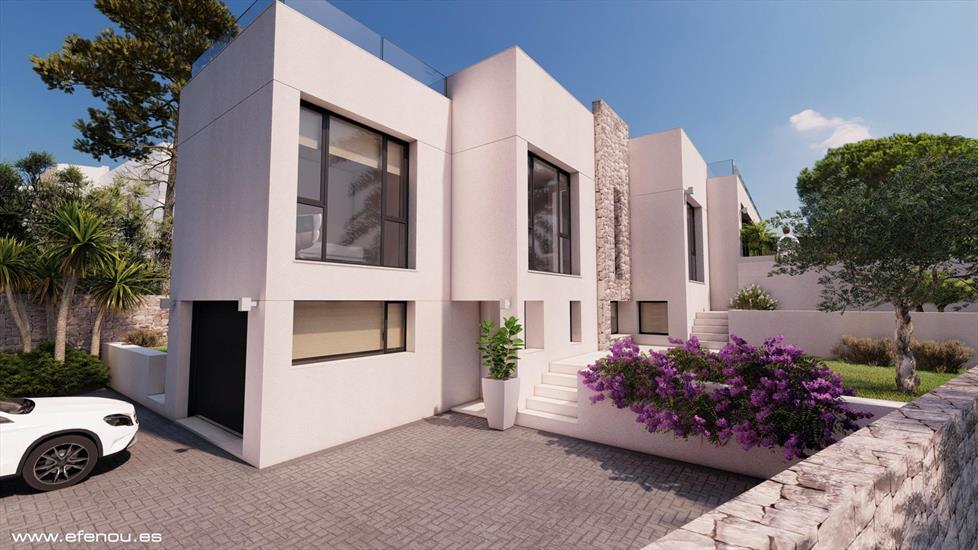 Modern villa close to the beach in Calpe (Costa Blanca)