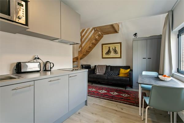 New furnished duplex-studio available close to the historic center of Leuven in a quite neighborhood.